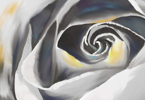 white rose paintings,rose paintings,56Flower10,MTO_1550_15771,Artist : Community Artists Group,Mixed Media