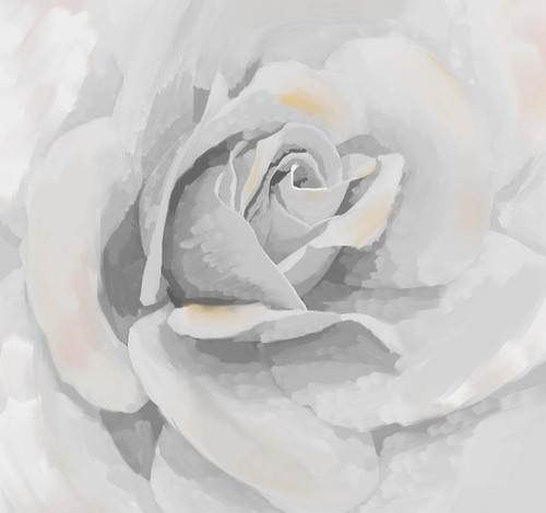white rose paintings,rose paintings,beautiful rose paintings,56Flower08,MTO_1550_15769,Artist : Community Artists Group,Mixed Media
