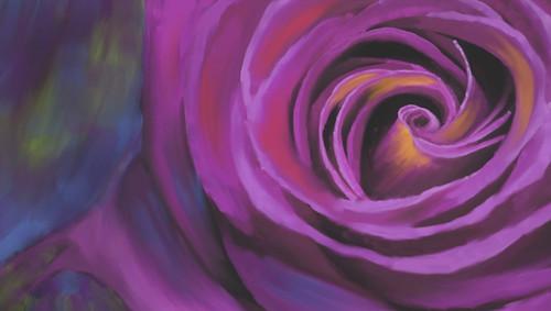 violet flower paintings,violet rose paintings,beautiful rose paintings,romance paintings,valentine paintings,56Flower05,MTO_1550_15766,Artist : Community Artists Group,Mixed Media
