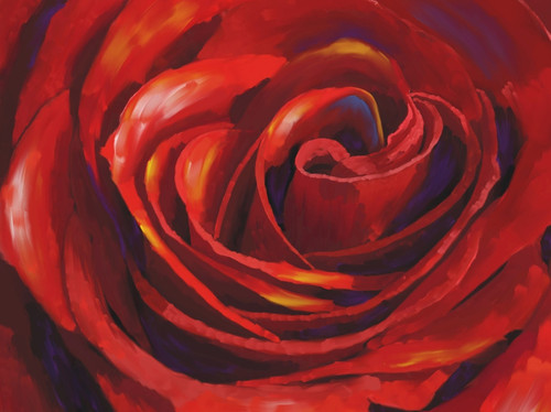 red rose paintings,valentine paintings,romance paintings,beautiful flower paintings,beautiful red rose paintings,56Flower04,MTO_1550_15765,Artist : Community Artists Group,Mixed Media