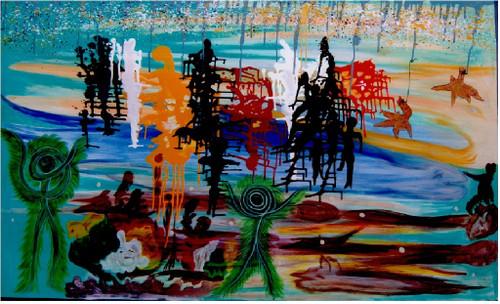 hell, modern art, modern hell,the hell,ART_1745_15784,Artist : Abdul Majeed,Acrylic