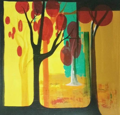 ,Summer Spring,ART_1700_14129,Artist : Kraftsland India Corp,Acrylic