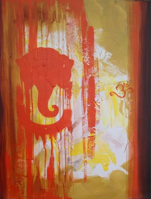 ,Blessing of Ganesha,ART_1700_14128,Artist : Kraftsland India Corp,Acrylic