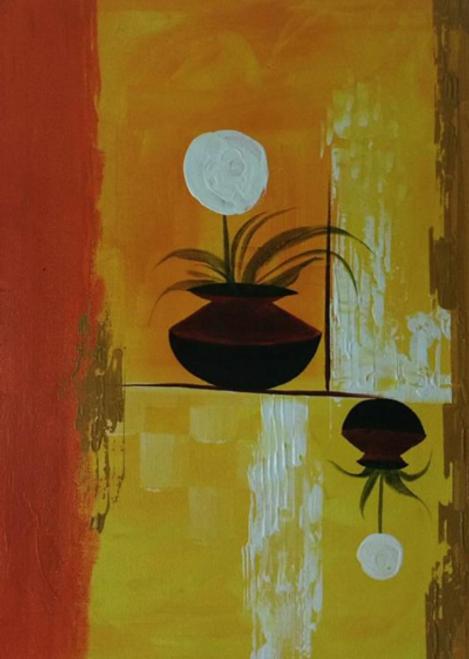 ,Flower pot,ART_1700_14114,Artist : Kraftsland India Corp,Acrylic
