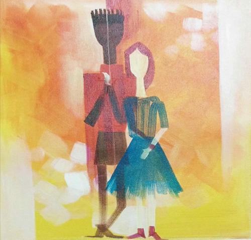 ,Power of Love,ART_1700_14097,Artist : Kraftsland India Corp,Acrylic