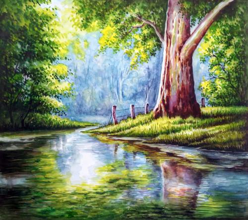 Nature Paintings,NATURE - Watercolour Painting,ART_1831_15813,Artist : Dinesh Kumar,Water Colors