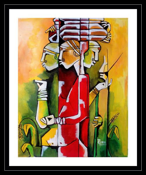 ,modern art,ART_1033_5002,Artist : PARESH MORE,acrylic on canvas