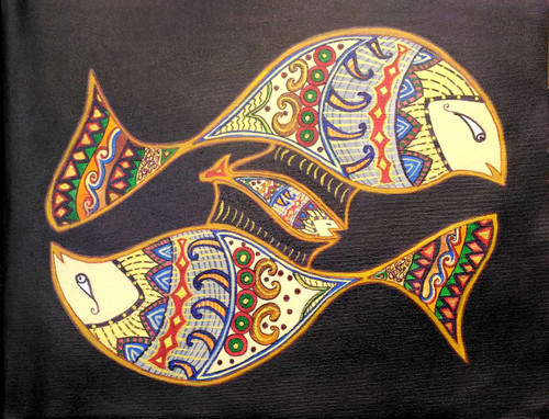 Fish, Sea, Underwater, Family, Deep Meaning,Bloodline,ART_1932_15925,Artist : BHARTI JAIN,Acrylic