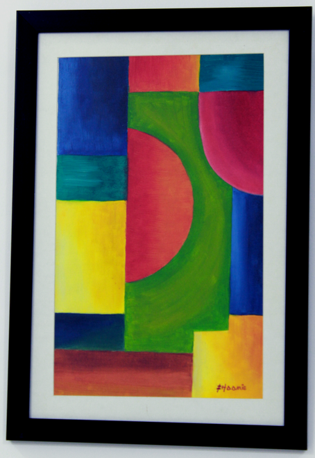 Abstract multicoloured painting,Modern Abstract Multicoloured Handpainted Painting,ART_1461_14250,Artist : Bhoomi Patel,Oil