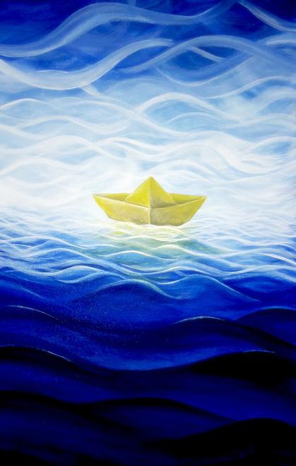 ,Paper Boat,ART_464_11666,Artist : Seby Augustine,Acrylic