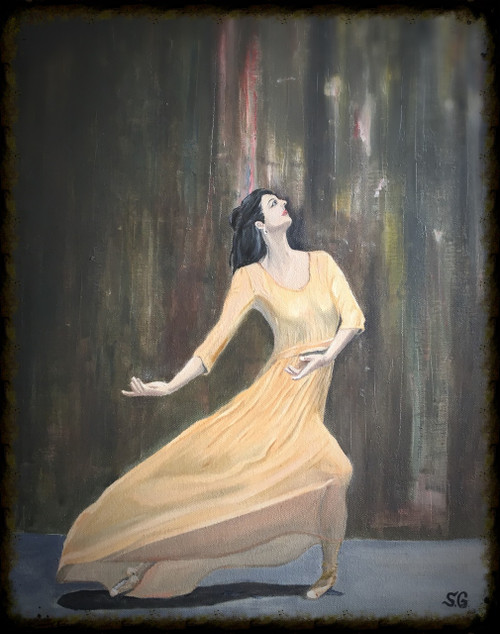 dancer, lady, woman, girl,Enlighten,ART_168_16056,Artist : Subhash Gijare,Oil
