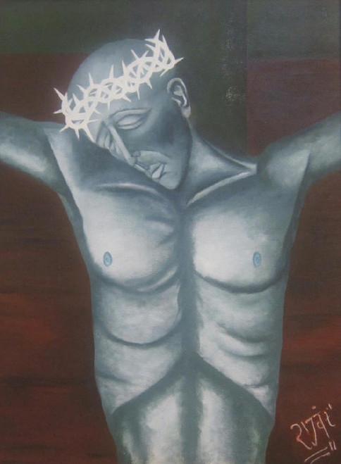jesus christ, painting, canvas,Jesus Christ,ART_1948_16166,Artist : Rajwant Kaur,Acrylic