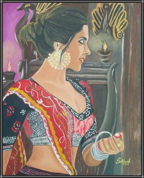 Beautiful, Girl , ,Graceful and Eligent,ART_168_11526,Artist : Subhash Gijare,Oil