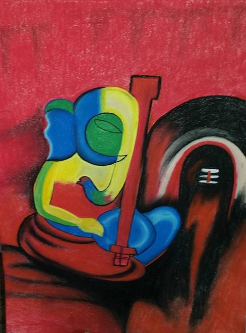 Ganesha,Ganesha4,ART_1385_11675,Artist : Chitra Ariram,Pastels
