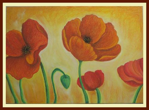 Floral,Blossom,ART_1385_11629,Artist : Chitra Ariram,Pastels
