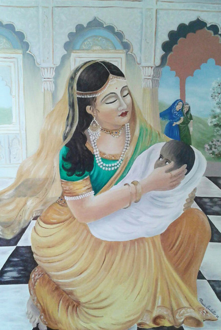 India,My India,ART_1996_16320,Artist : Maria Sorbello,Oil