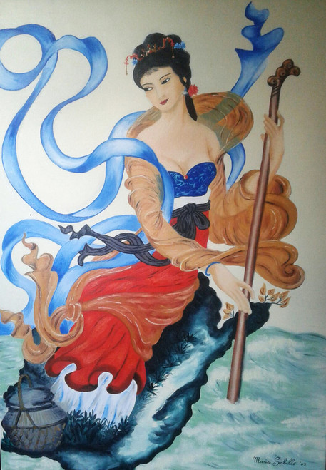 Chinese beauty,Chinese beauty,ART_1996_16328,Artist : Maria Sorbello,Oil