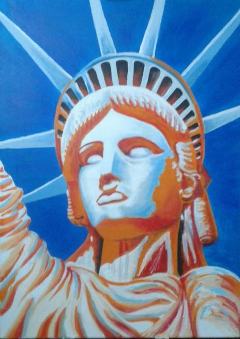 Statue of Liberty ,Statue of Liberty,ART_1996_16361,Artist : Maria Sorbello,Oil