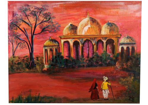 rajesthani painting,rajesthani painting,ART_2008_16406,Artist : Kokila Joshi,Acrylic