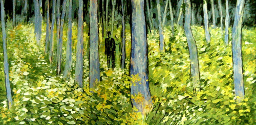 ,Vangogh Undergrowth,ART_1229_2227,Artist : Pallavi Jain,Oil