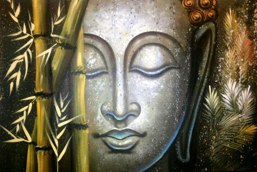 ,Buddha Bamboos 2,ART_1229_1989,Artist : Pallavi Jain,Acrylic