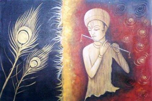 ,Krishna,ART_1229_1426,Artist : Pallavi Jain,Acrylic