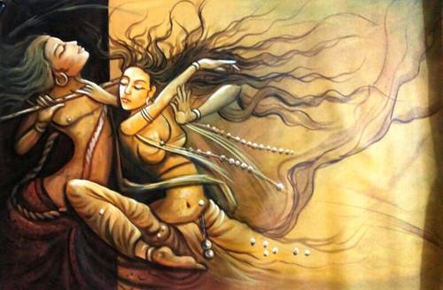 ,Romance 01,ART_1229_1425,Artist : Pallavi Jain,Acrylic
