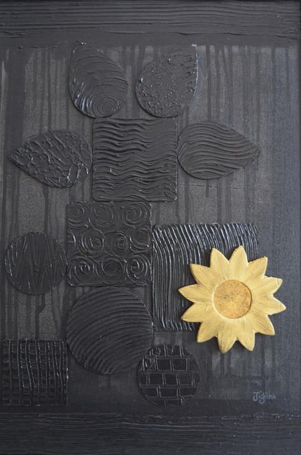 black, mural, geometric shapes,Black,ART_647_16413,Artist : Jigisha Dwivedi,Mixed Media