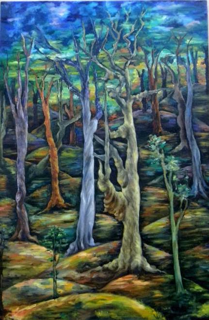 ,ENDLESS BEAUTY,ART_1709_16419,Artist : RAKA PANDA,Oil