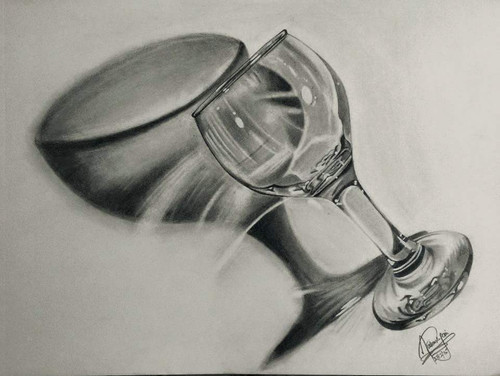 glass, empty, emptyness, shade,Emptyness,ART_518_16428,Artist : Aakash Jain,Pencil