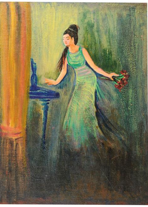 lady,figure,women,lady,ART_2008_16483,Artist : Kokila Joshi,Acrylic