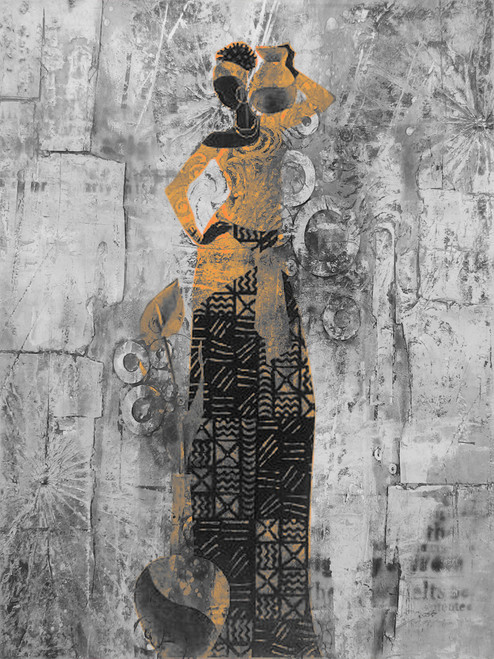 African04 - 24in X 36in,28African10_FRM_2436,Black, Dark Shades, Size,Modern Art Art Canvas Painting