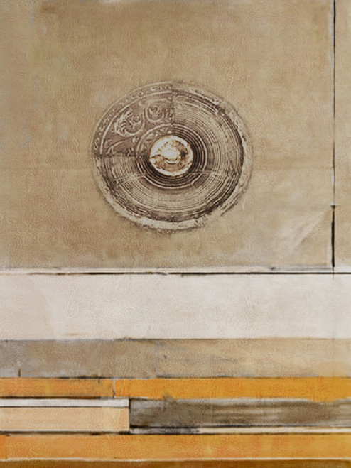 Sofrana - 30in X 40in,28ABT174_3040,Yellow, Brown,75X100 Size,Abstract Art Canvas Painting