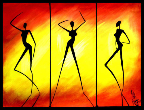 Dance, Freedom, Peace, Abstract,Be the music to your beats,ART_518_16427,Artist : Aakash Jain,Poster Colors
