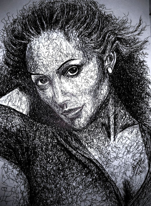 Jennifer, lopez, JLo, actress, Hollywood, star, singer, pop, music,Jennifer Lopez,ART_518_8585,Artist : Aakash Jain,Pen Sketch