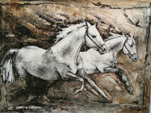 horse,horse series,ART_2086_16974,Artist : Syed Hasan,Acrylic