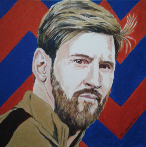 MESSI FAN,MESMERIZING MESSI,ART_1483_17080,Artist : RAJKUMAR SARKAR,Acrylic