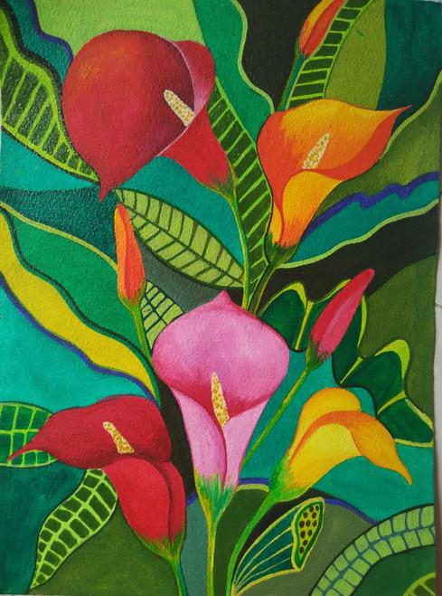 ,Flower-Nagfani,ART_1243_17208,Artist : Ujwala Chavan,Acrylic