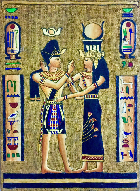 Egyptian Art, Egypt, Black and Gold, Ceramic on Jute, Ceramic ,Egyptian Gods,ART_1316_17292,Artist : Priyanka Dutt,Mixed Media