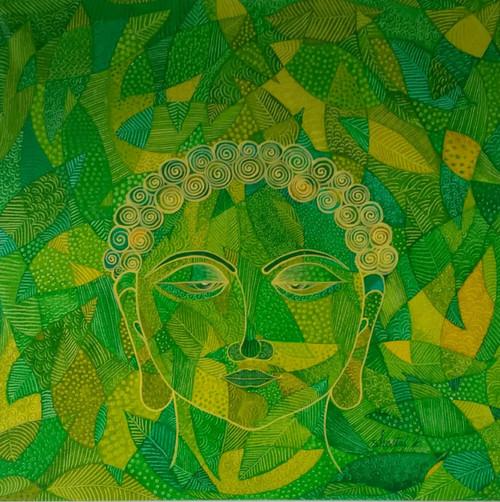 Buddha painting.,Buddha painting.,ART_1435_14803,Artist : Sheetal Kshatriya,Acrylic