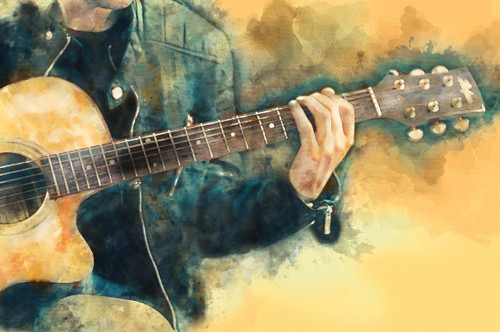 guitar,Strings of life,MTO_1550_17655,Artist : Community Artists Group,Mixed Media
