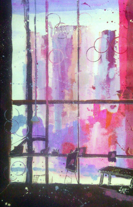Window,Inspiration,old,Cityscape,red,Eyes,Still life,Abstract,The Window of Inspiration,ART_2144_17632,Artist : Anirban Kar,Poster Colors