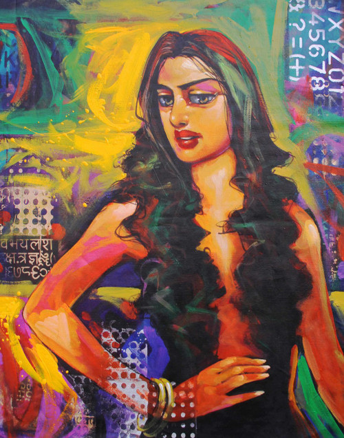 ,Lady1,ART_2219_17623,Artist : Prabir Shaw,Acrylic