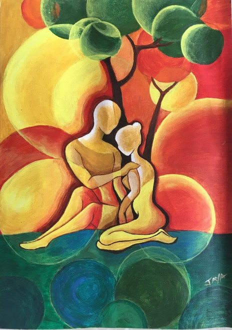 Bonding,Bonding,ART_2132_17712,Artist : Jayalakshmi Naik,Acrylic