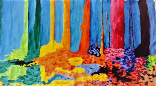 ,VIBGYOR- TEXTURED PAINTING,ART_1985_17750,Artist : Shilpi Sharma,Acrylic