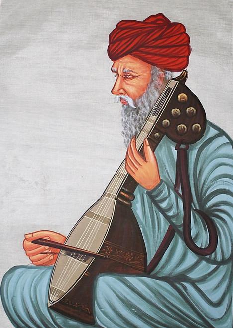 Rajasthani Painting, miniature art, rajasthani miniature art, Portrait, man, traditional,Rajasthani Banna,ART_2251_17814,Artist : Prem Arts & paintings,Pastels