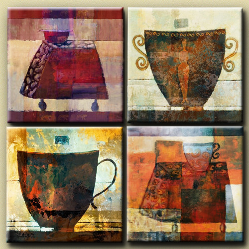 Harappa - 48in X 48in,25GRP292_4848,Multi-Color,120X120 Size,Multi Panel Art Canvas Painting