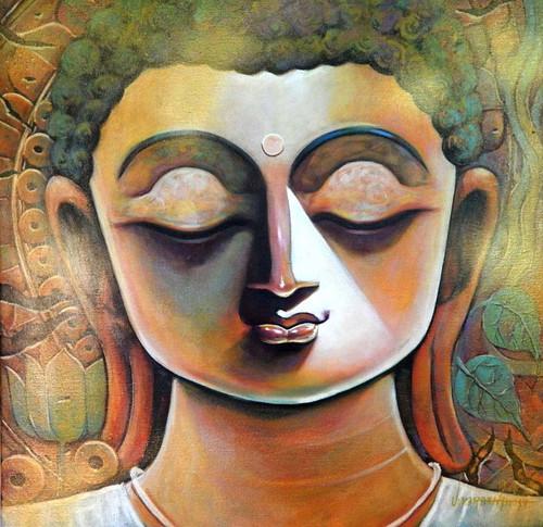 Buddha, Goutam, Siddharth, God, Lord, Deva, Dev, Goutam Buddha,PEACE,ART_1469_17860,Artist : Subrata Ghosh,Acrylic
