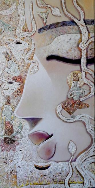 Krishna, Radha, Radhakrishna, Radhakrishna, Lord, God, Gopal, Murari Mohon, Nandan, Manohara, Madhusudan, Love, Romance, pease, vishnu, Narayana, dasavtar, narayan,MADHUSUDAN,ART_1469_17854,Artist : Subrata Ghosh,Acrylic