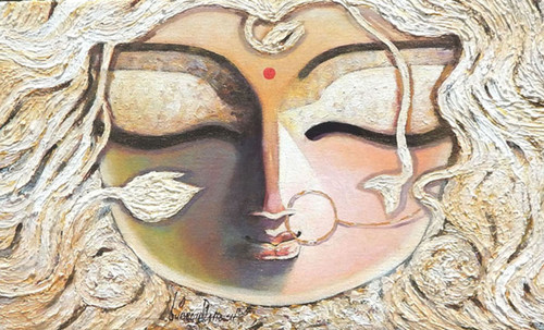 Durga, Devi, Devi Durga, Maa, Mata, Durga Mata,BRAAHMI,ART_1469_17843,Artist : Subrata Ghosh,Acrylic